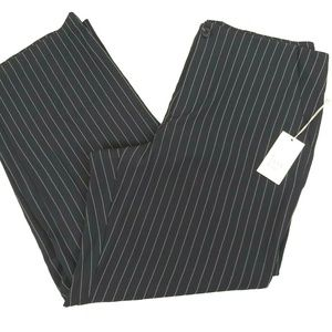 Women's 16 Black Pin Stripe Wide Leg Dress Pants